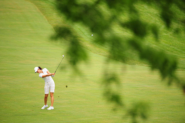 Wie finished at eight over par.