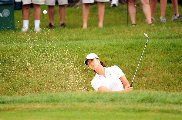 After several weeks of solid play, Michelle Wie's game fell apart after she made a nine on the par-4 9th hole.