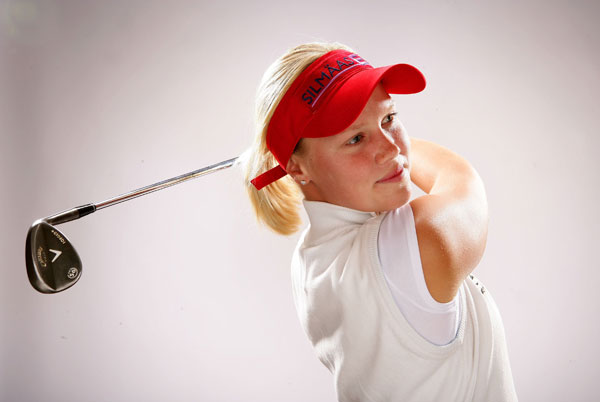 Minea Blomqvist                     Blomqvist started playing golf at the age of 9 in her native Finland.