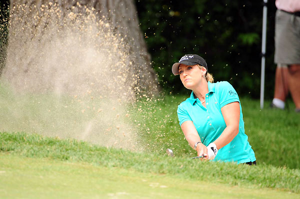 Defending champion Cristie Kerr is only two shots back.