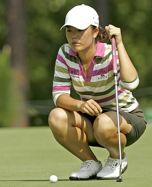 Brazil's Angela Park held the clubhouse lead at three under par.