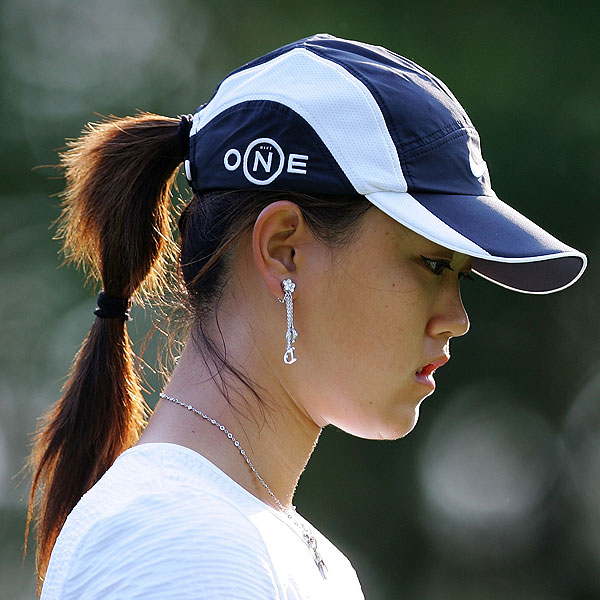 "Michelle Wie hit only four fairways on Thursday. ""It's frustrating because my score is not displaying how I'm playing at all. I don't feel like I shot the score, I felt like I made a lot of great scrambles out there, but was really shaky off the tee,"" she said."