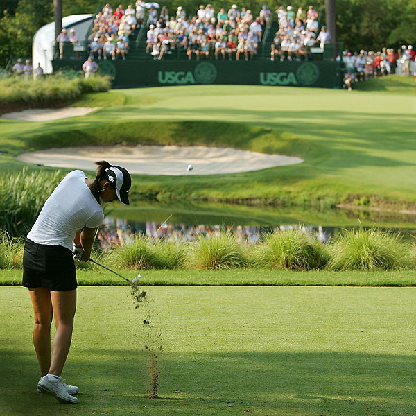Wie ended her day near the bottom of the leaderboard at 11 over par.