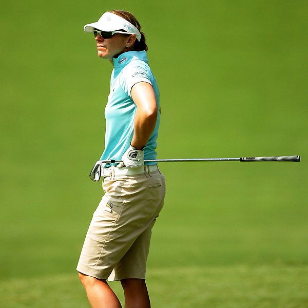 Sorenstam started on the back nine and shot a six-over 42.