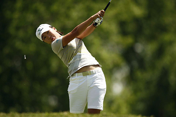 In-Kyung Kim finished five strokes off the lead at four under par.