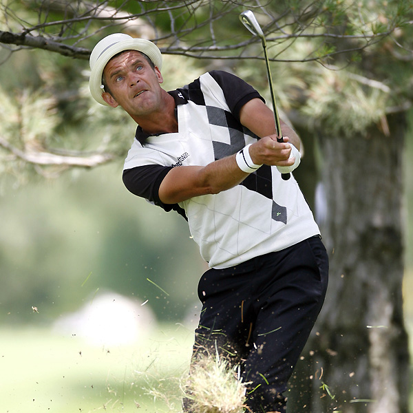 """Jesper Parnevik had the round of the day with an eight-under 64. """"I did not feel very good coming into this week,"""" Parnevik said. """"I've been struggling the whole year. I broke my finger in the second tournament of the year. I broke my toe about six weeks ago. I had hip surgery. My body is pretty much done."""""""