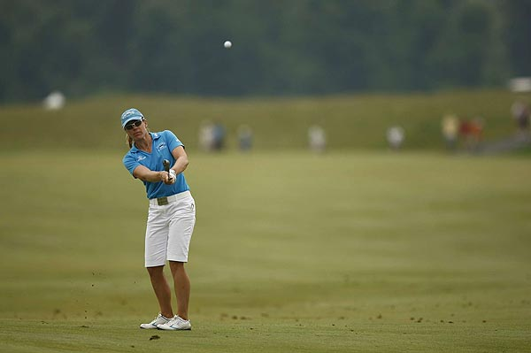 """It's only Thursday, I'm not going to worry about where I am at the end of the day. I just want to continue to play the way I am doing and looking forward to a great week,"" Sorenstam said."