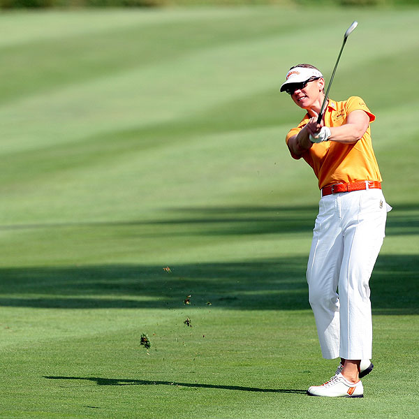 Annika Sorenstam, who finished tied for 36th at her own tournament last week, finished at two under par.
