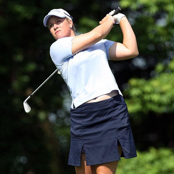 Brittany Lincicome was three under par after her first round.