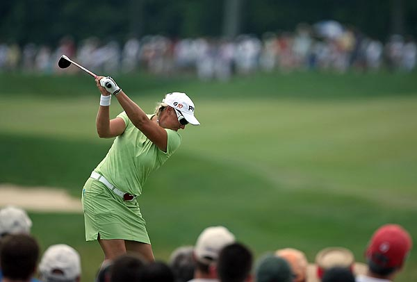 """Hjorth closed with a 71 to force the playoff. """"I played solid golf all day, and just very proud of myself for hanging in there,"""" she said."""