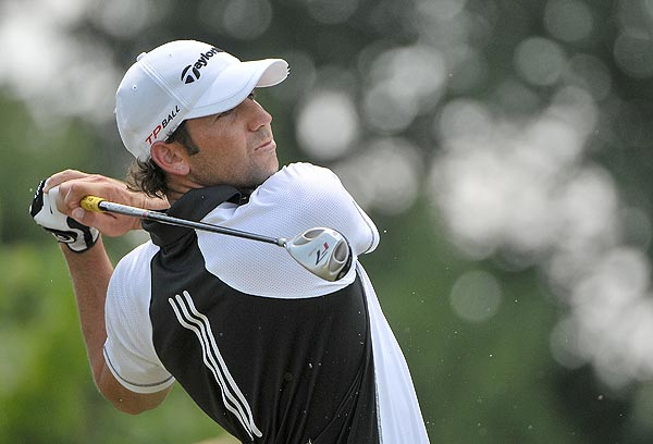 Sergio Garcia finished one stroke off the lead at three under par.