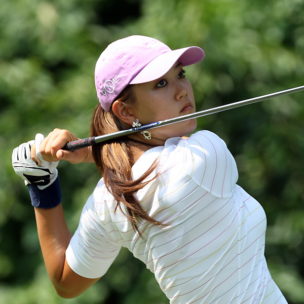 With a bogey on 18, Michelle Wie dropped to three over and was in danger of missing the cut. But Wie wound up making the weekend on the number.
