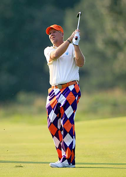 John Daly started off his tournament on a high note with a round of one-under 69.