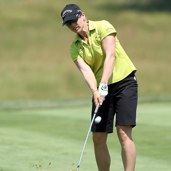 Also at four under is Annika Sorenstam. Sorenstam recovered from four bogeys with birdies on 14, 15, and 16.