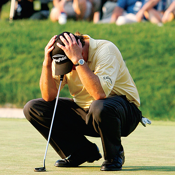 When U.S. Opens AttackIn the primal battle between golfer and U.S. Open, the Open nearly always winsAS THE CURTAINS DROPPED ON PHIL Mickelson's 72nd hole tragicomedy at Winged Foot last year, the stunned protagonist squatted like a catcher on the 18th green, closed his eyes and burrowed his head in his hands. The moment, caught by dozens of flashing cameras, became an indelible symbol of how suddenly the U.S. Open can make agrown man literally buckle at the knees. Mickelson, of course, was not its first victim, but one in a long succession of wounded left humbled by the Open's unholy trinity of slick greens, thick rough and heart-stopping pressure. Don't take our word for it: these pictures tell the story far better.By Alan Bastable