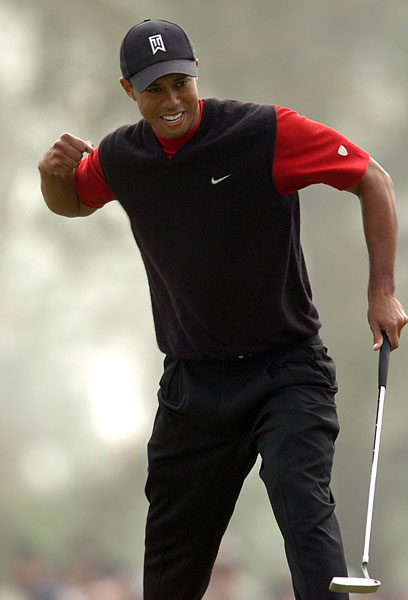 "Win 4: King Putt                                              Woods edged Luke Donald and Tom Lehman in '05. Due to fog delays, Lehman played 36 holes in one day with the World No. 1.                                              TOM LEHMAN: ""The reason he's so dominant there is that the course is long and has severe green surrounds. If you miss the green you need an imaginative short game. He didn't hit every shot perfect, but he bailed himself out with his putter and his short game. The purer you roll it, the more you distance yourself from everyone else on bumpy greens. It's the guys who mis-hit putts who struggle.""                                              LUKE DONALD: ""He holes more putts at Torrey Pines than he usually does, even when the greens aren't in that great of shape. The USGA's changes might change the breaks a bit. You just never know."""