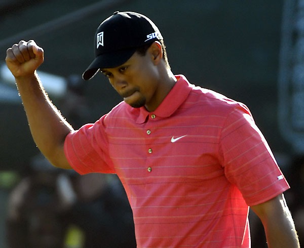 "Win 5: No Way, Jose!                                              Woods' final-round 72 in '06 left him ""very lucky"" to make a playoff with Nathan Green and Jose Maria Olazabal. Olly missed a four-footer to hand Tiger the trophy.                                              TIGER WOODS: [on Olazabal's missed putt]: ""You don't ever take joy out of seeing friends do that.""                                              NATHAN GREEN: ""He plays the South just as well as he plays the North. Every course suits him, but [the South] more than most because he's such a good long-iron player. And he seems to putt well on those greens."""