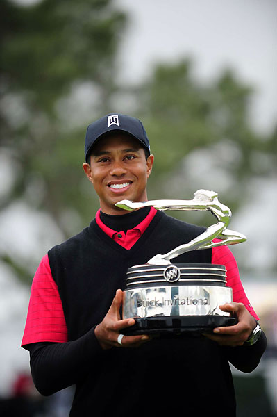 "Win 7: Wild Thing                       Tiger finished 75th in fairways hit at the '08 Buick — and won by eight! Woods played with rookie Kevin Streelman on Saturday. Boo Weekley was in the mix before a Sunday 77.                                              KEVIN STREELMAN: ""He didn't drive it very well that day, a little bit right, a little bit left. But two things I'll never forget: The shot he hit into 11 [a 221-yard par-3] — I tell everybody about it. Mike [Streelman's caddie] and I were thinking, He's got a huge lead, he'll hit 5-iron to the middle of the green. But a 5-iron would have sucked back and ended up at the front of the green. So he hits this hold-cut 4-iron, gripping it down by the steel, that hung on the left side of the pin and hit up on the top of the back shelf, which killed [the spin] enough that it released back and almost went in. It caught the left lip and ended up two feet away. I mean, nobody goes for that pin; long is dead. It was like he was just having fun. Second thing, I couldn't believe how he was consistently making 12, 15 footers on very bumpy greens. It's complete confidence and focus. I guarantee you no one else was doing it. I felt like I hit it with him, hit it inside him a couple of times, then he turns it on on the back nine and shoots 32, and I'm suddenly six back.""                                              TIGER WOODS: ""Back when I played junior golf here it was baked out in the summer and the ball ran forever, but after the redesign it changed. But I still play well here—the course just fits my eye.""                                              BOO WEEKLEY: ""I think Tiger should have to play with just a 2-iron."""