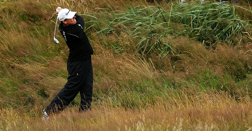 Justin Leonard found himself in Royal Lytham's deep, thick rough. He shot a 75.