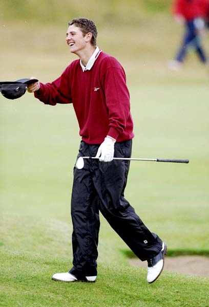 Seventeen-year-old amateur Justin Rose holes his third shot from the fairway at Royal Birkdale in 1998 to finish fourth. The next day he turned professional and proceeded to miss 21 consecutive cuts. He finally broke through at a major when he won the 2013 U.S. Open at Merion.