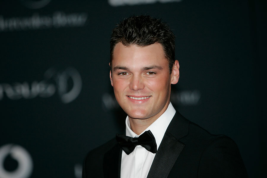 Martin Kaymer stepped out in a tuxedo to accept the award for Breakthrough of the Year at the 2011 Laureus Awards in Abu Dhabi.