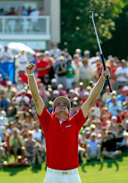 In May, Bradley captured his first Tour win, beating Ryan Palmer in a playoff at the HP Byron Nelson Championship.