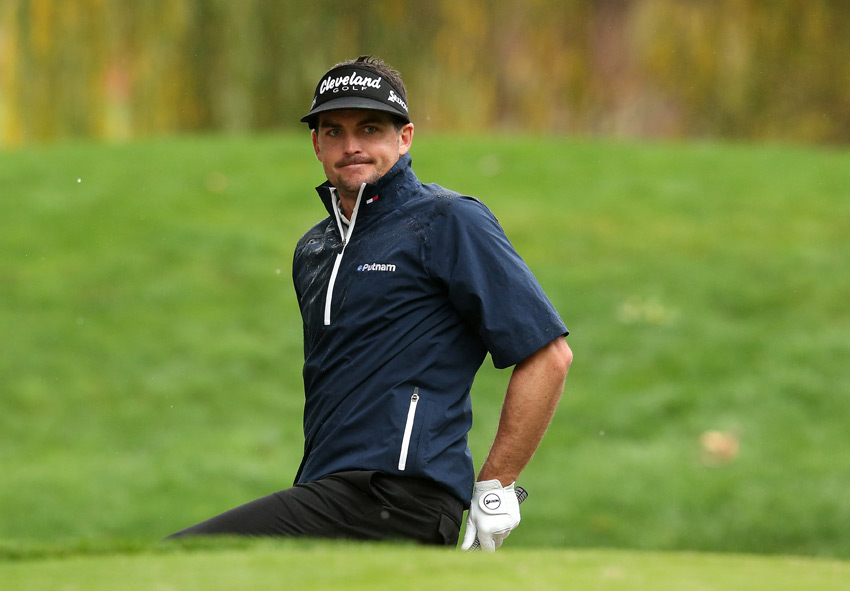 Keegan Bradley finished two shots off the lead after a five-under 67.