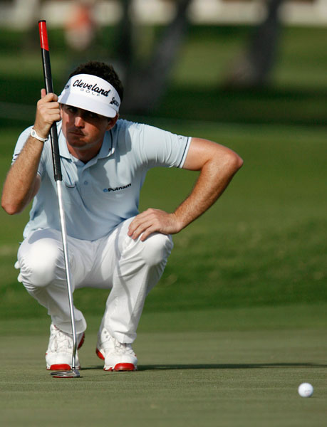 Keegan Bradley is only four shots back after a three-under 67.