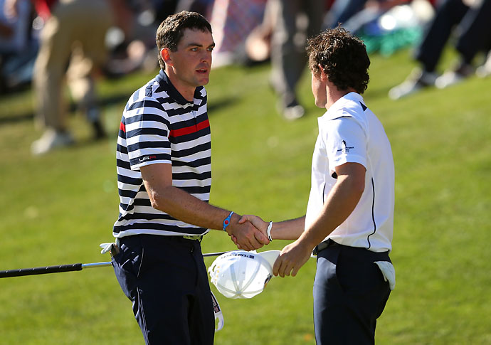 """I had actually spoken to a PGA official. … There's no way I was going to let him forfeit the match by not showing up. We were going to bump our time back or move back when he showed up.""                       --Keegan Bradley on playing Rory McIlroy in singles at the 2012 Ryder Cup, when McIlroy almost missed his tee time. McIlroy arrived five minutes before his tee time and beat Bradley 2 and 1."