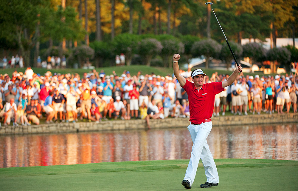 Rookie Keegan Bradley won the PGA Championship in his first start in a major.