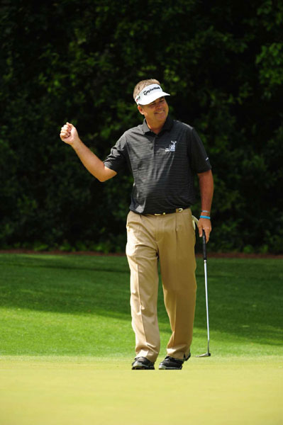 At 48, Perry is trying to win his first major and become the oldest major championship winner. He shot 70 Saturday.