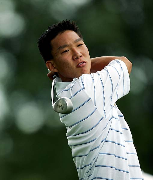 Anthony Kim at the 2005 Walker Cup at Chicago Golf Club. Kim, who starred for the United States at the 2008 Ryder Cup, was on the winning side at the 2005 Walker Cup as well.