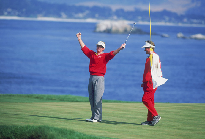 Tom Kite Wins the 1992 U.S. Open                       Some even-par rounds are better than others. Like the 72 fashioned by Kite during a wind-whipped final round in '92. How hard was it blowing? Kite hit 6-iron on the 100-yard, dowhill, par-3 7th. How well did he scramble? He chipped in for birdie on that hole, one of nine up-and-downs he converted that day.