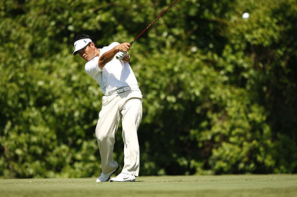 A double bogey on the ninth left K.J. Choi at even par after the first round.