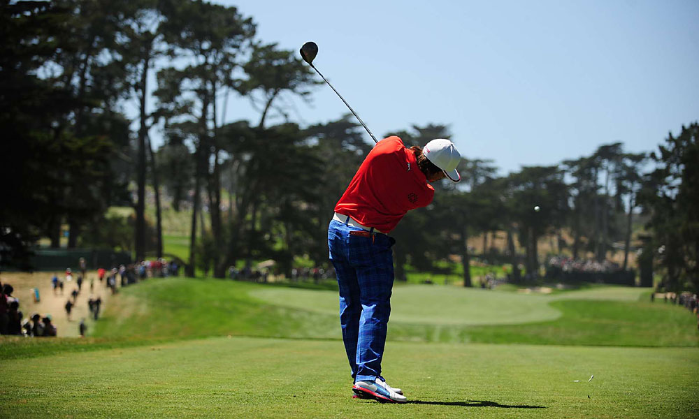 Fowler, who played with Johnson, shot 35 on his first nine.