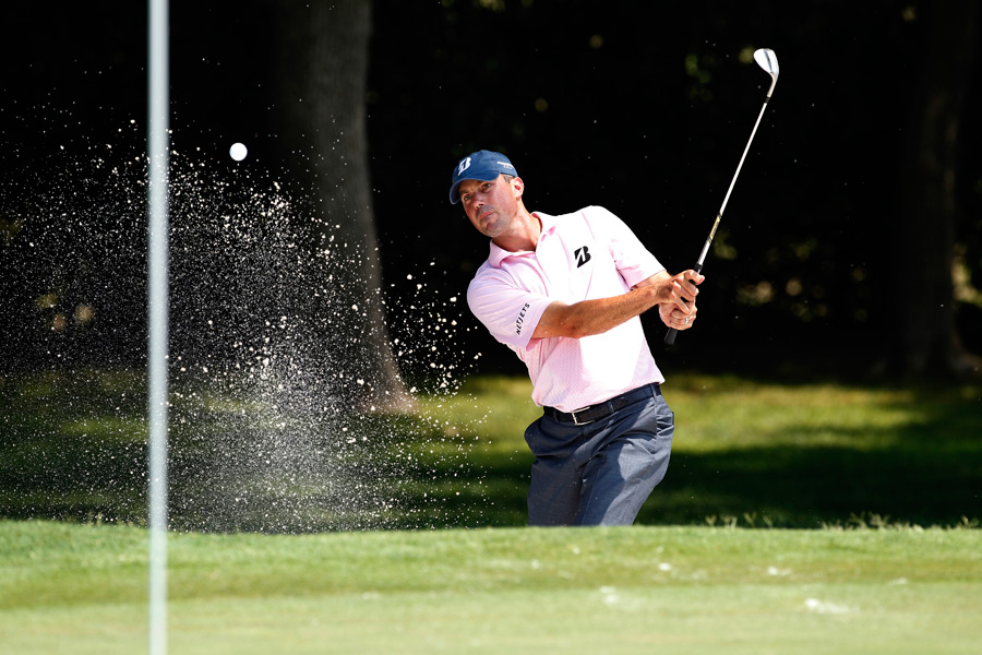 Matt Kuchar made four birdies, a bogey and a double bogey for a 69.