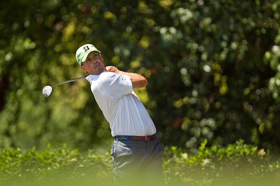 Matt Kuchar made four birdies, four bogeys and a double bogey.
