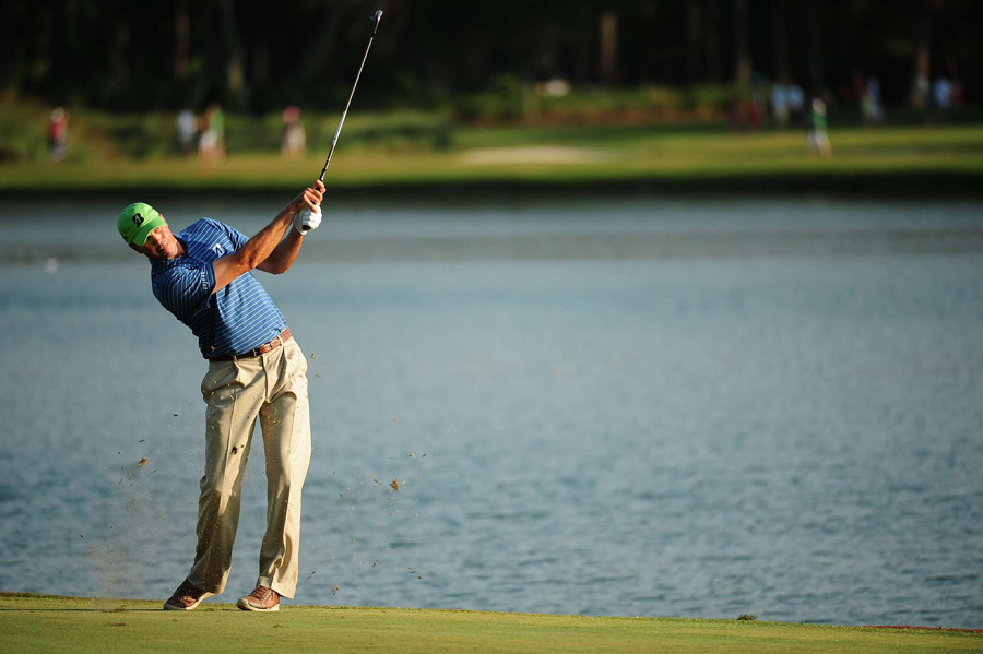 Matt Kuchar made seven birdies and four bogeys to finish one shot off the lead.