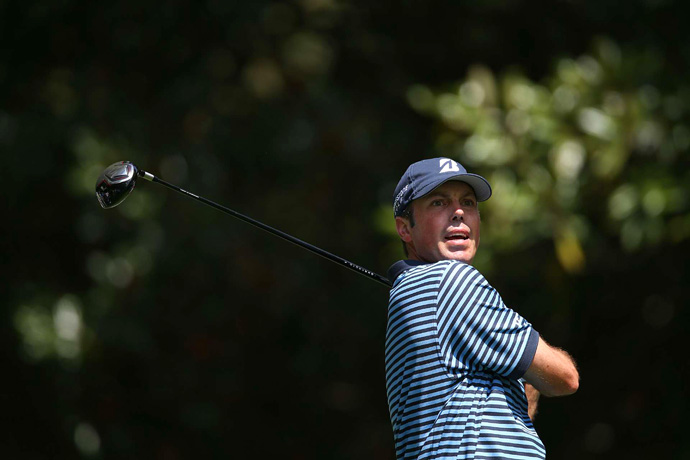 Matt Kuchar made an early run at the lead, but he struggled coming in and finished with a 75.
