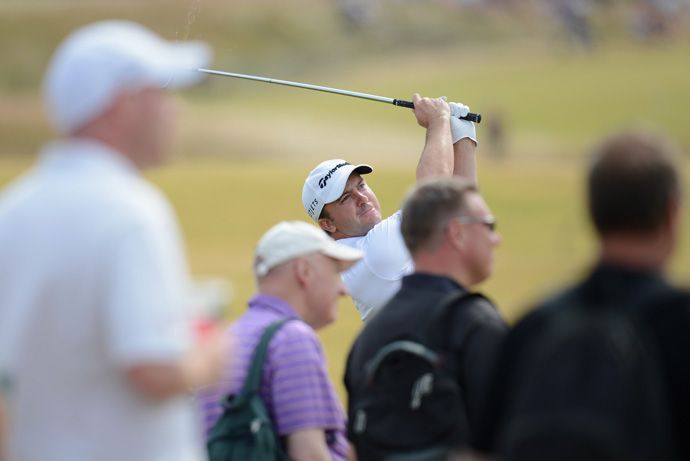 Martin Laird is four back after a three-under 69.