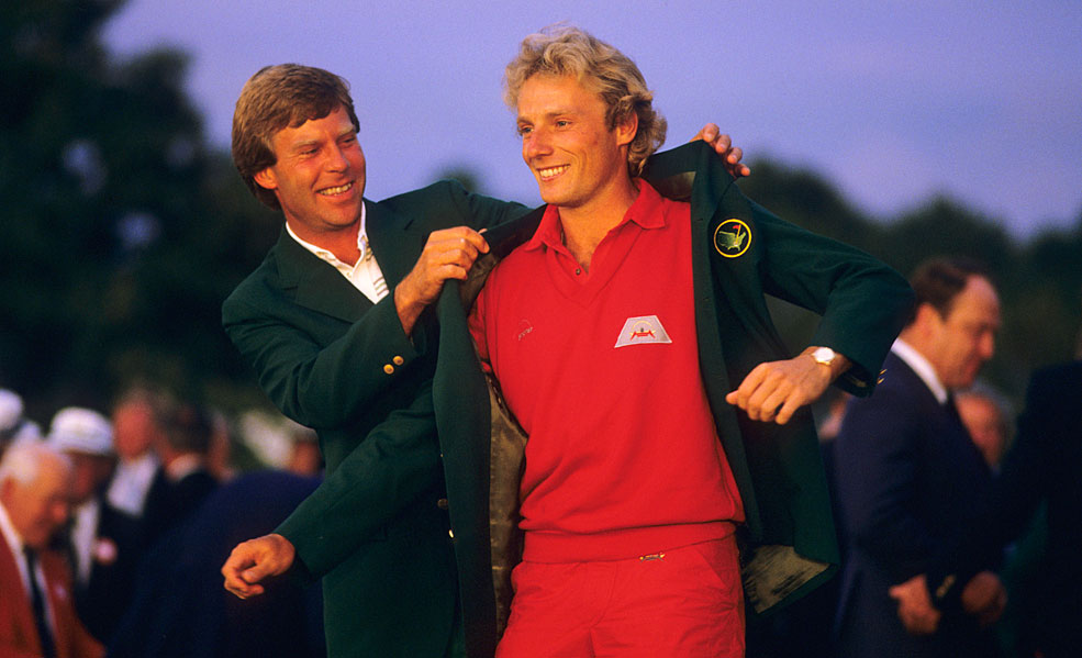 Bernhard Langer went 68-68 on the weekend at the 1985 Masters to become just the third international player to win at Augusta.
