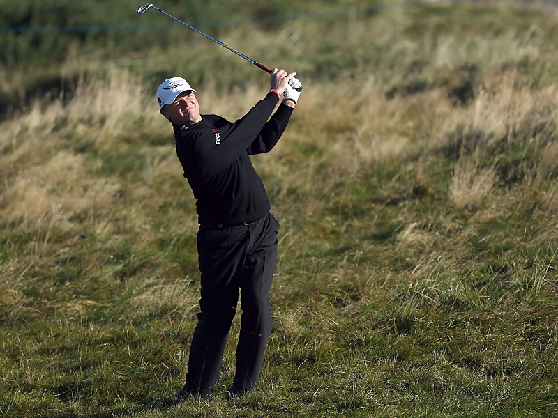 European Ryder Cup member Paul Lawrie shot a two-under 70 at Carnoustie.
