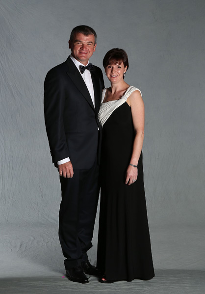 Paul Lawrie and his wife, Marian.