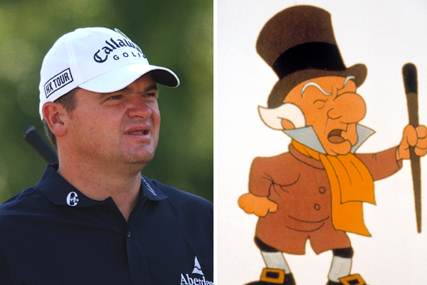 Paul Lawrie and Mr. Magoo