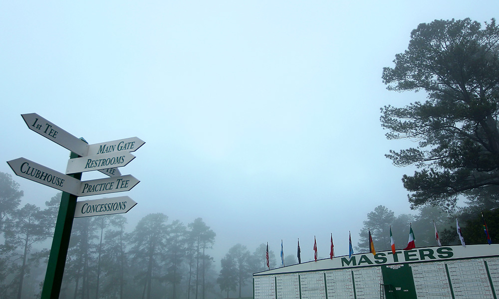The start of Wednesday's practice round was delayed as the course was closed for maintenance.