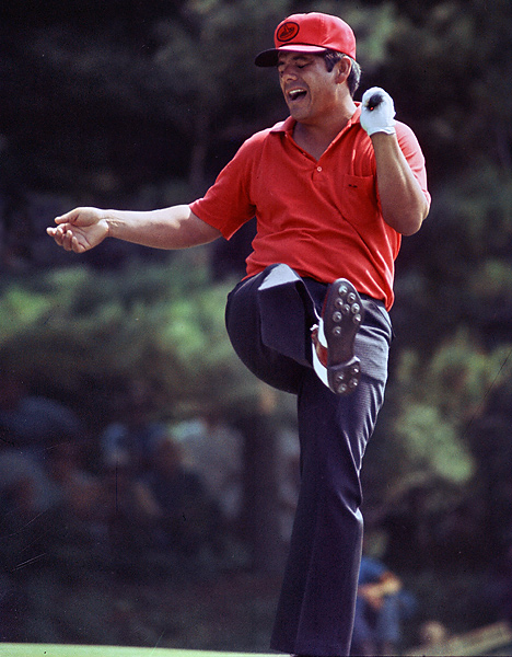 Lee Trevino, 1971 U.S. Open at Merion                     Jack Nicklaus and Lee Trevino, the two best players at the time, finished regulation tied for the lead. On the 1st tee in the playoff, Trevino remembered that his daughter had left a rubber snake in his bag, so he pulled it out and tossed it in Nicklaus's direction. Nicklaus chuckled, but Trevino had the last laugh. He shot a two-under 68 to beat Nicklaus by three shots. Over the next three weeks Trevino would add the Canadian and British Open trophies to his mantel.