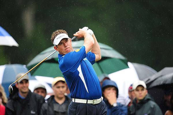 Three more birdies on the front nine left Westwood six strokes off the lead.