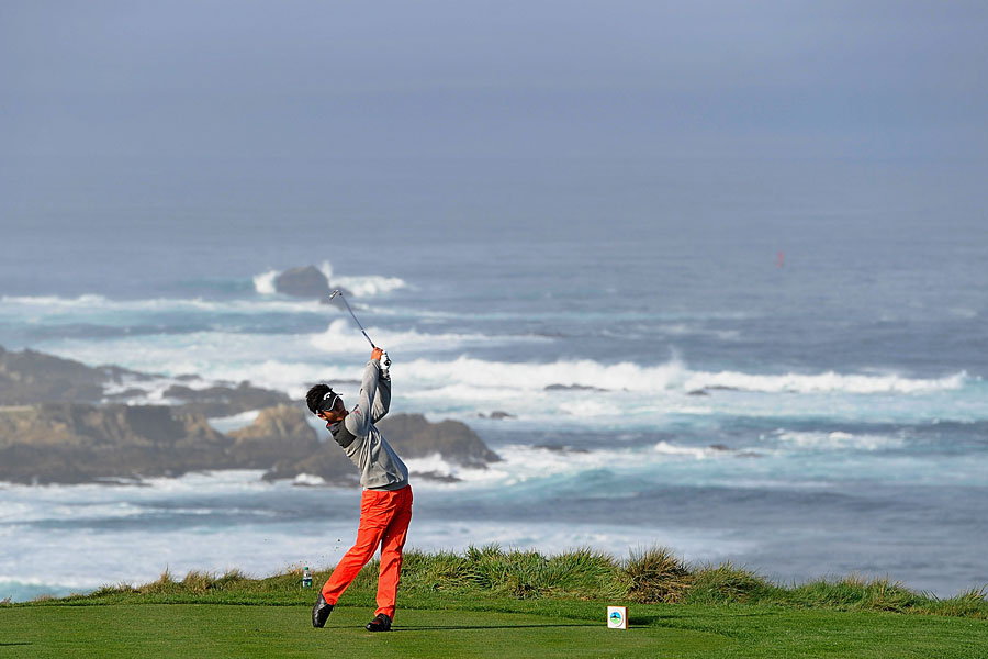 Danny Lee shot a 63 on Thursday, but he was 10 strokes higher at Spyglass Hill on Friday.