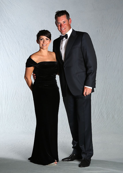 Lee Westwood and his wife, Laurae.