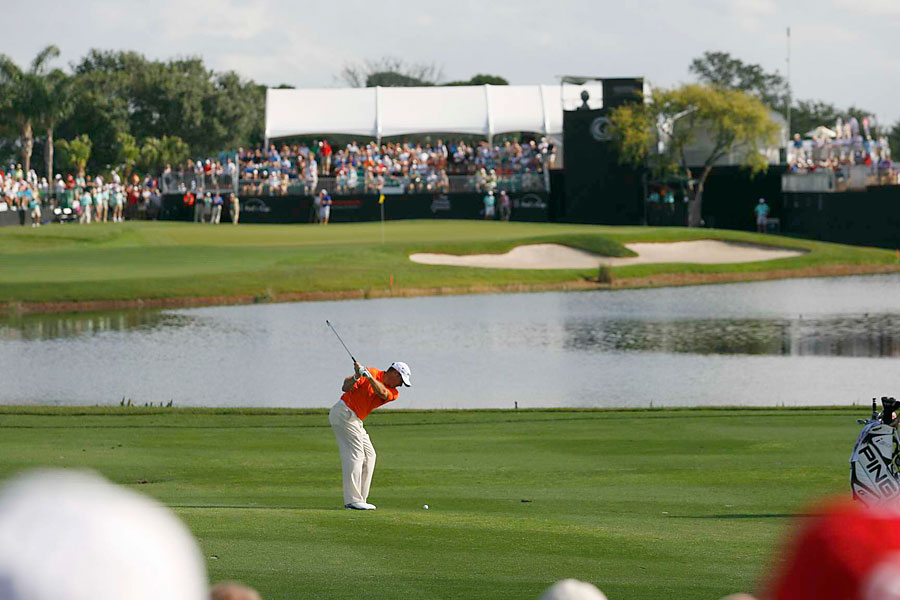 Lee Westwood made two birdies and one bogey for a 69.